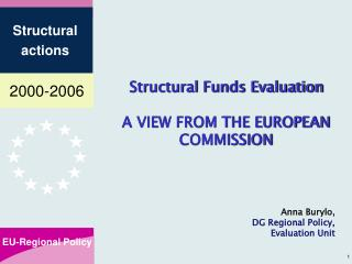 Structural Funds Evaluation A VIEW FROM THE EUROPEAN COMMISSION