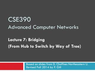 CSE390 Advanced Computer Networks