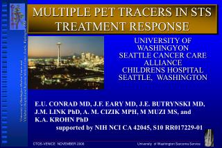 MULTIPLE PET TRACERS IN STS TREATMENT RESPONSE