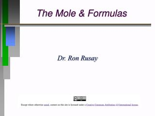 The Mole & Formulas
