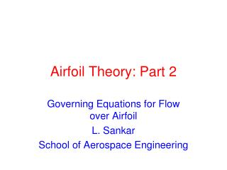Airfoil Theory: Part 2