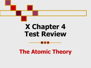 X Chapter 4  Test Review