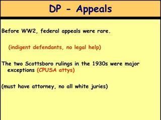 DP - Appeals