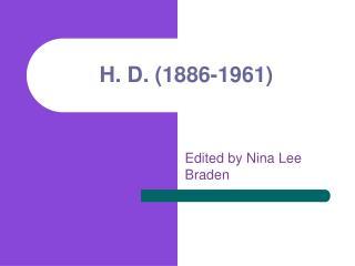 H. D. (1886-1961)