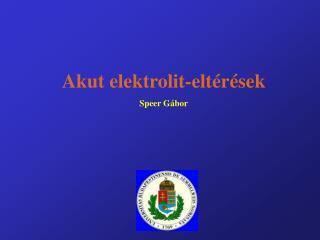 Akut elektrolit-elt r sek Speer G bor