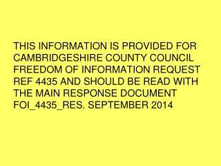 Undertaken for Cambridgeshire Criminal Justice Board Offender Subgroup Sept 2014