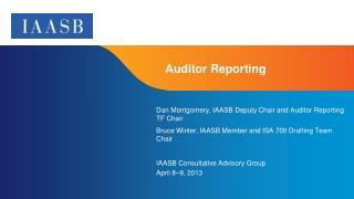 Auditor Reporting
