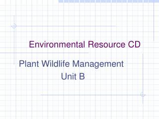 Environmental Resource CD