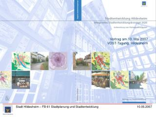 Vortrag am 10. Mai 2007 VDST-Tagung, Hildesheim