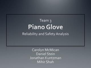 Team 3 Piano Glove