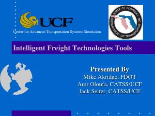 Intelligent Freight Technologies Tools