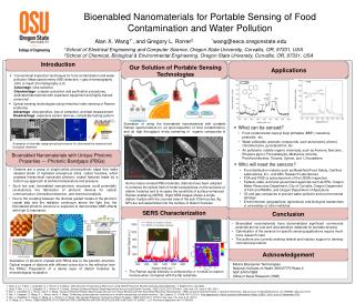Bioenabled  Nanomaterials for Portable Sensing of Food Contamination and Water Pollution