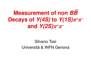 Measurement of non  BB  Decays of  Y(4S)  to  Y(1S)  +    and  Y(2S)  +  