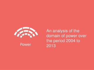 An analysis of the domain of power over the period 2004 to 2013