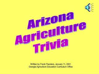 Arizona Agriculture Trivia