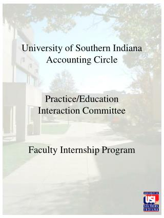 University of Southern Indiana Accounting Circle