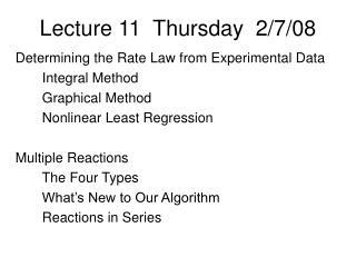 Lecture 11  Thursday  2/7/08