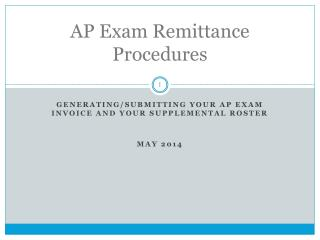 AP Exam Remittance Procedures