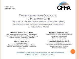 Collaborative Family Healthcare Association 14 th  Annual Conference