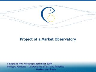 Project of a Market Observatory