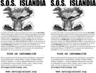S.O.S.   ISLANDIA