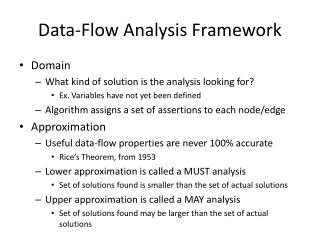Data-Flow Analysis Framework