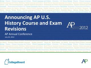 Announcing AP U.S. History Course and Exam Revisions