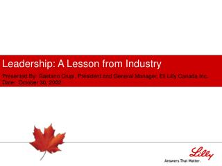 Leadership: A Lesson from Industry
