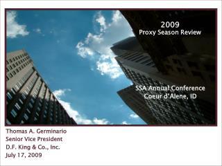 2009 Proxy Season Review