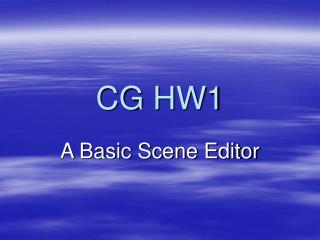 CG HW1