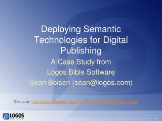 Deploying Semantic Technologies for Digital Publishing