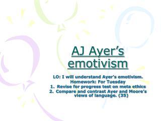 AJ Ayer's emotivism