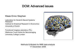 DCM: Advanced issues