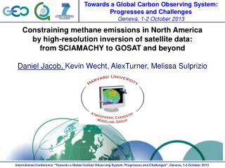 Constraining methane emissions in North America  by  high-resolution inversion of satellite data: