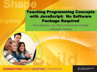 Teaching Programming Concepts with JavaScript: No Software Package Required