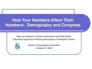How Your Numbers Affect Their Numbers:  Demography and Congress