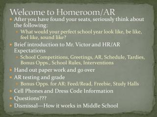 Welcome to Homeroom/AR