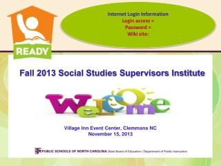 Fall 2013 Social Studies Supervisors Institute