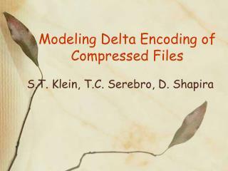 Modeling Delta Encoding of Compressed Files