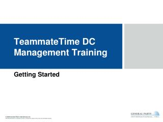 TeammateTime DC Management Training