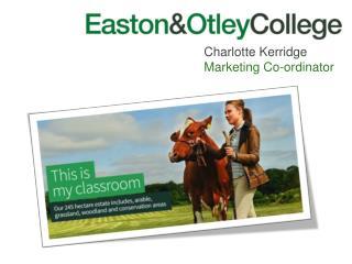 Charlotte Kerridge Marketing Co-ordinator