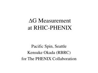 D G Measurement at RHIC-PHENIX