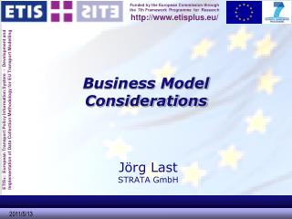 Business Model Considerations
