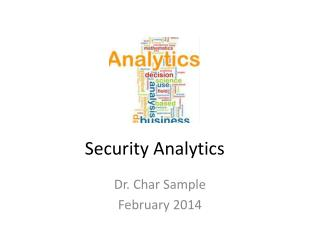 Security Analytics
