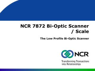 NCR 7872 Bi-Optic Scanner / Scale