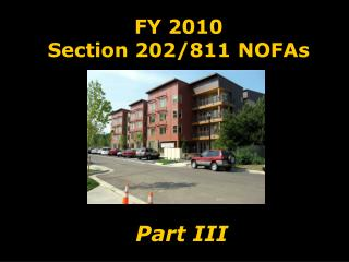 FY 2010 Section 202/811 NOFAs