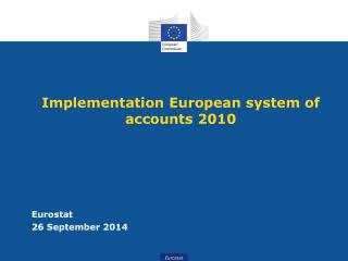 Implementation European system of accounts 2010