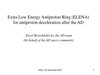 Extra Low Energy Antiproton Ring (ELENA) for antiproton deceleration after the AD