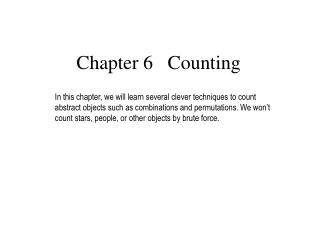 Chapter 6   Counting