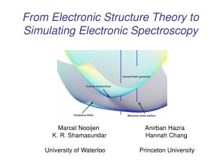 From Electronic Structure Theory to Simulating Electronic Spectroscopy